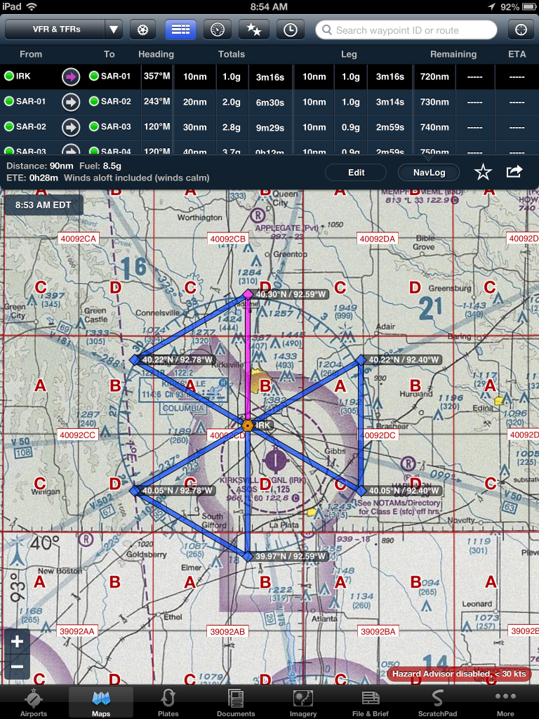 Sar Grid And Pattern Foreflight