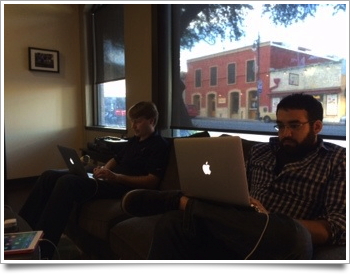 Tyson and Daniel J. couch coding