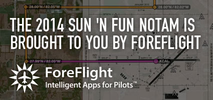 The 2014 SUN 'n FUN NOTAM is brought to you by ForeFlight
