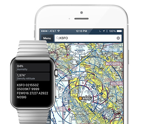 ForeFlight for Apple Watch with iPhone.