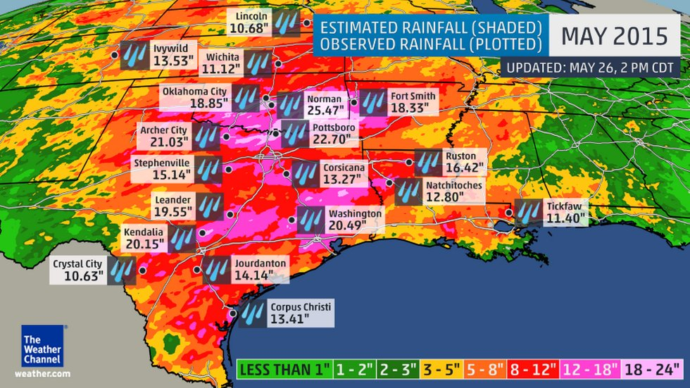 May ForeFlight - Map of 2016 us rainfall amounts