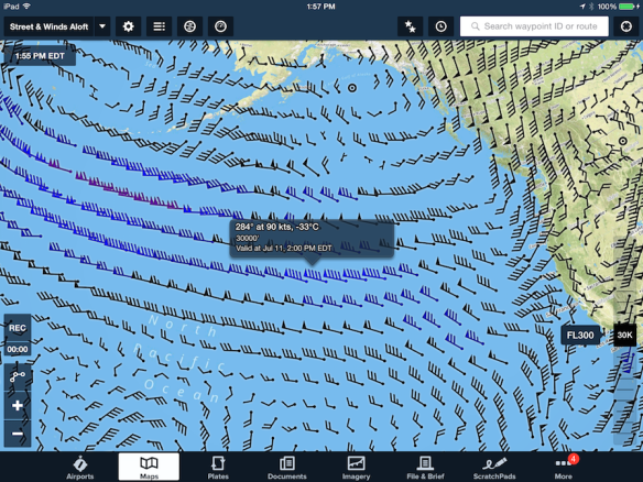 Winds Aloft Map View Layer
