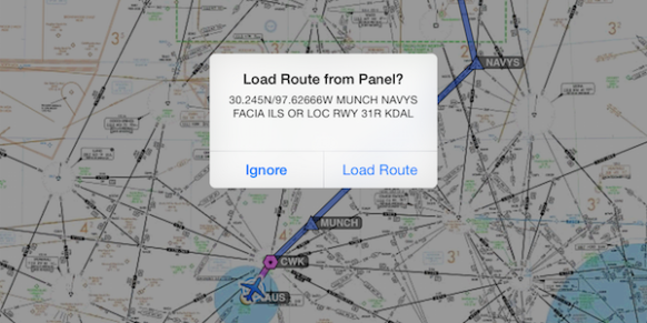 Automatically receive route changes from the panel.
