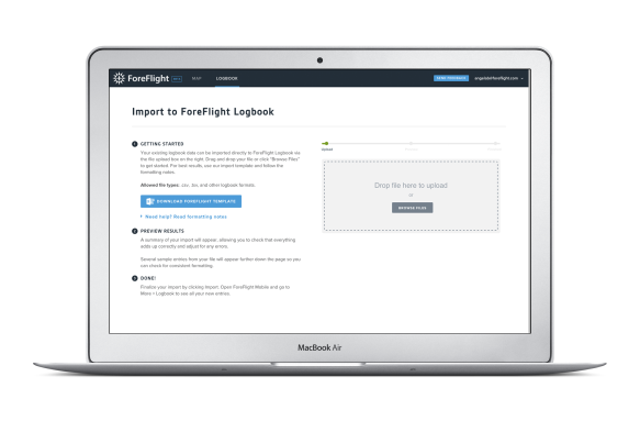 ForeFlight Web Logbook import tool