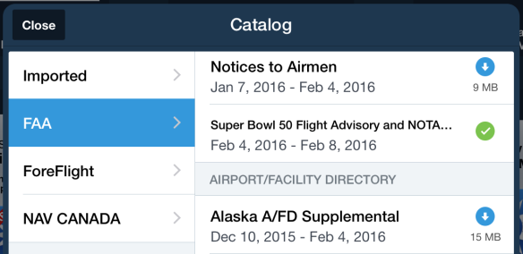 The notice from the FAA can be found in Documents > Catalog > FAA