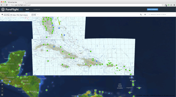 You can now plan routes to the Caribbean in ForeFlight Web