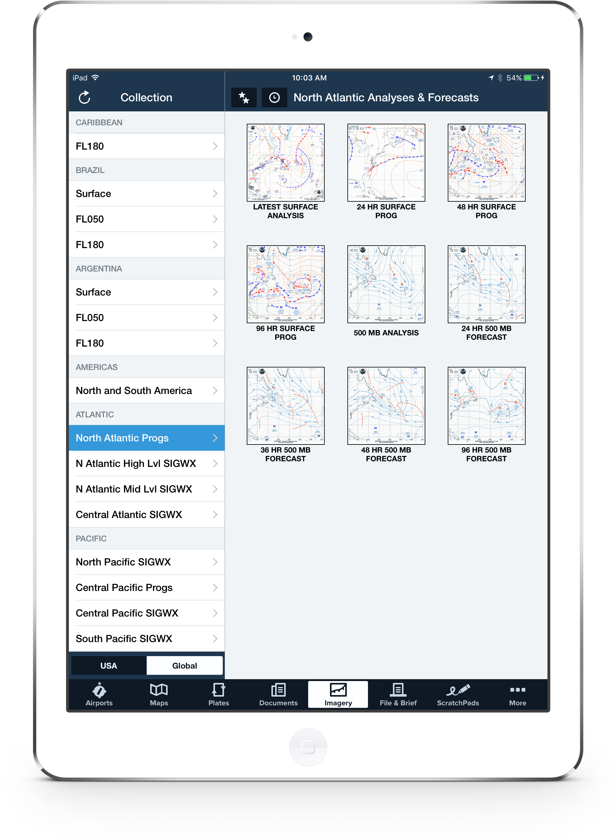 New International Forecast Weather Imagery Available in ForeFlight