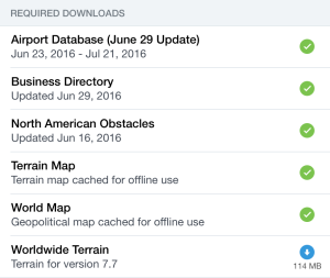 The new download replaces the old Terrain Map for ForeFlight 7.7.