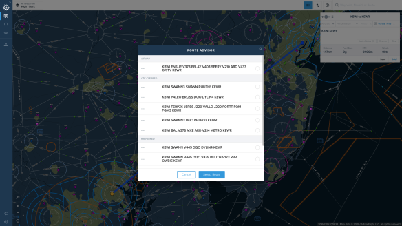 ForeFlight web planner route advisor