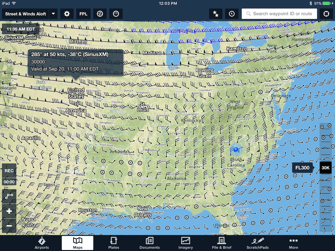 Weather Foreflight