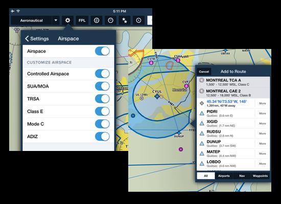 Aeronautical Maps airspace