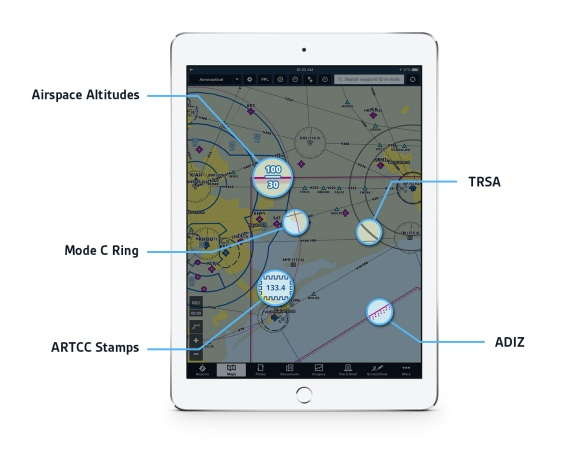 Aeronautical Maps airspace details