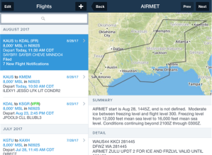Flight Notification adverse weather