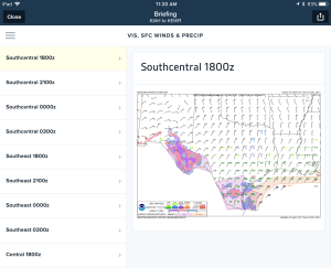 Access new forecast graphics in ForeFlight's Graphical Briefing.