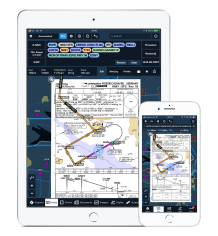 ForeFlight-iPad-and-iPhone-with-Jeppesen-chart-on-map