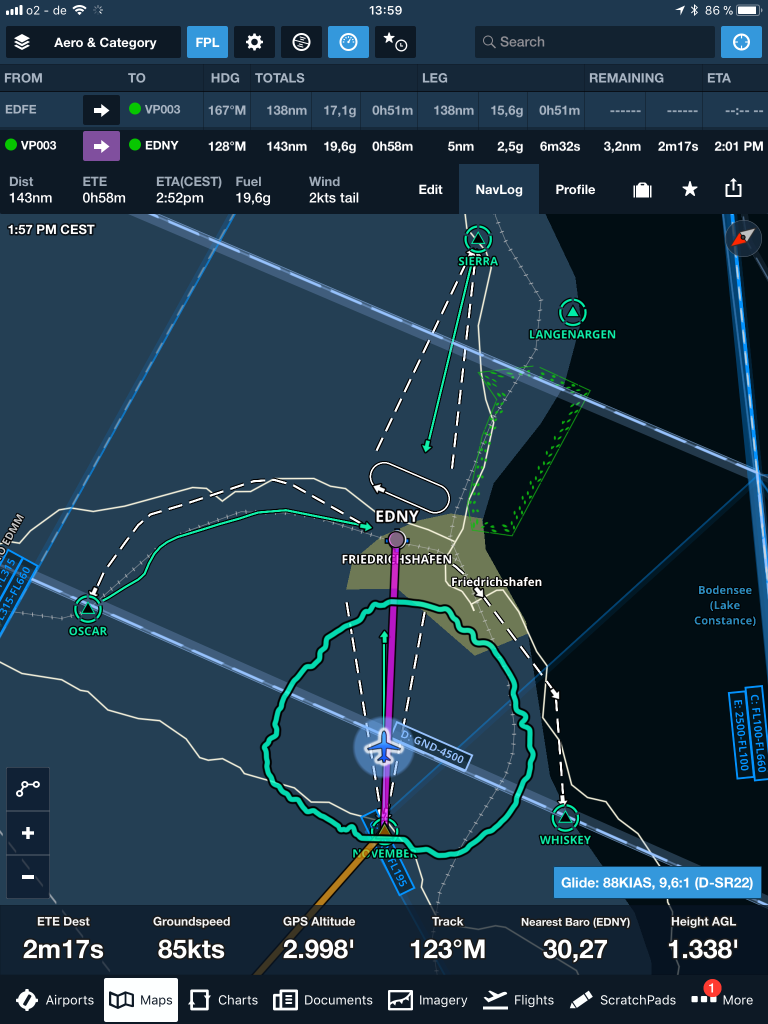 ForeFlight-moving-map-Jeppesen-VFR-data-glide-advisor
