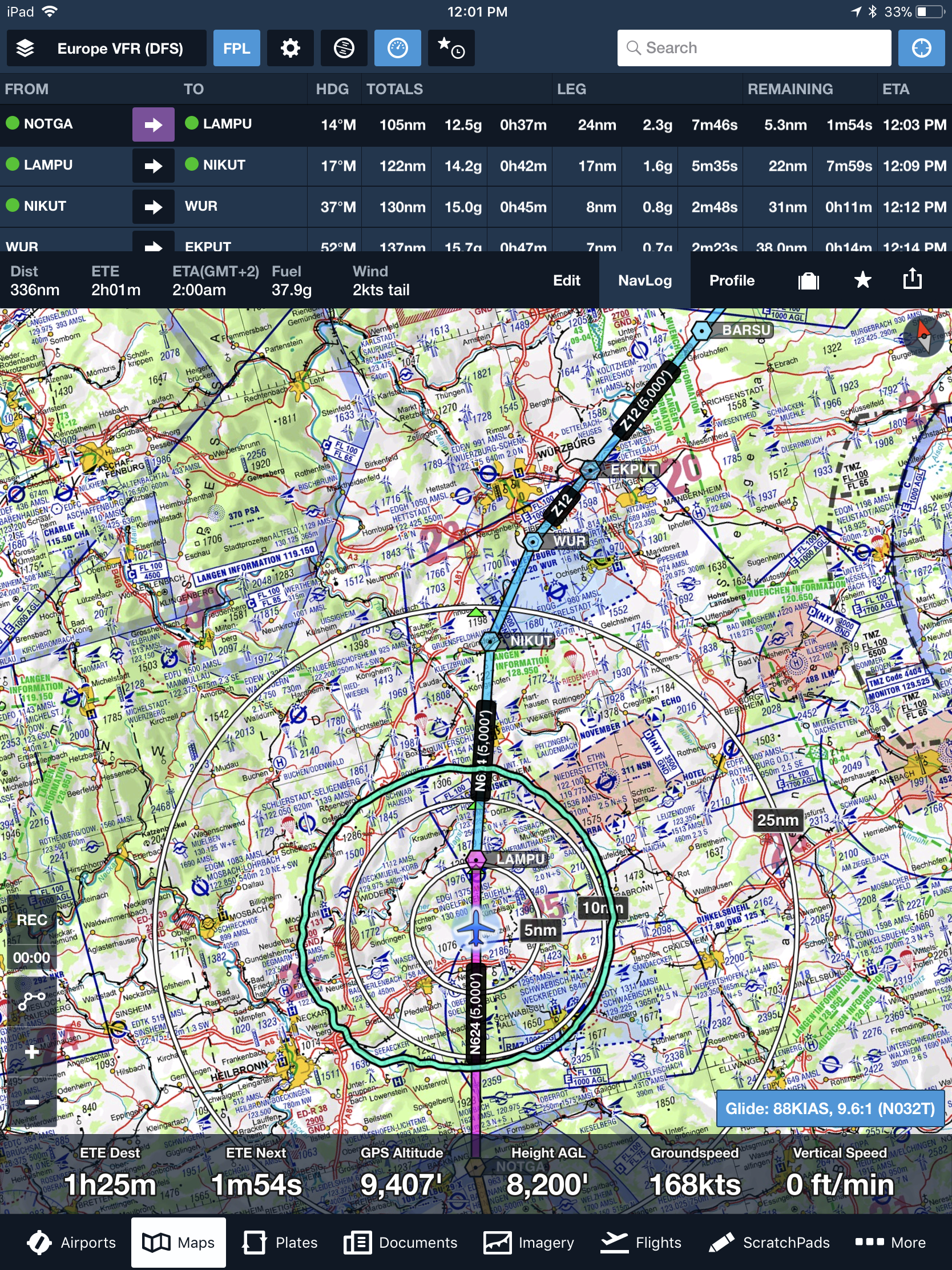 foreflight moving map with dfs vfr chartpng