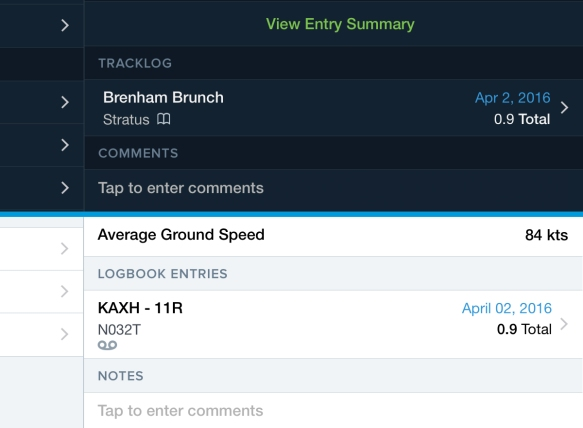 ForeFlight Logbook-Track Log Links