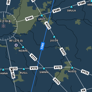 The new airway labels mimic the familiar style found on IFR enroute charts